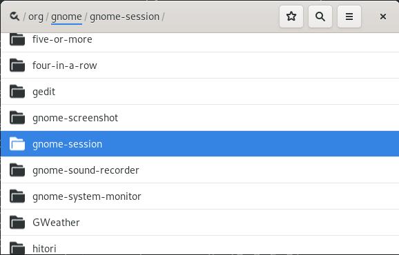 GNOME session