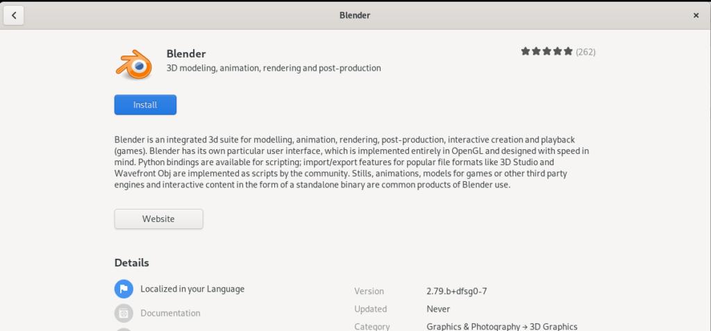 Install Blender 3D