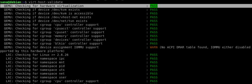 CPU Validation result