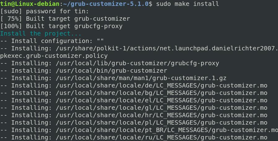 Install Grub Customizer