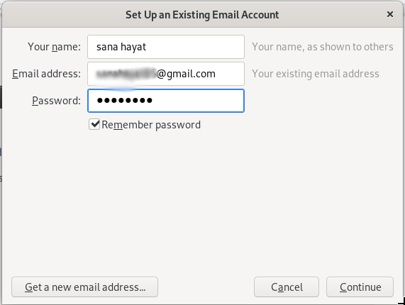 Setup Email account