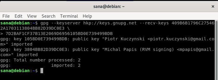 Install GPG Key
