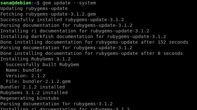 Update Ruby Gems