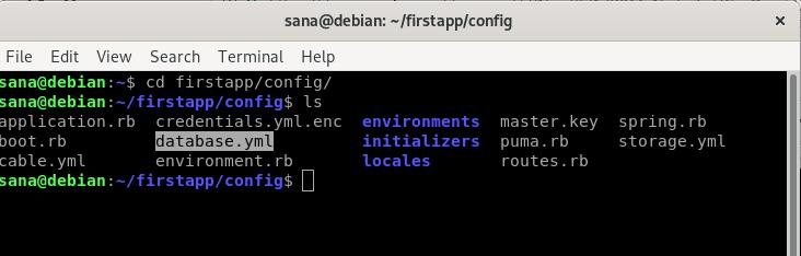 Database configuration for Rails app