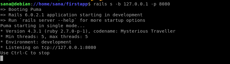 Start Rails server