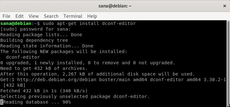 Install dconf editor