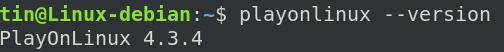 Check PlayonLinux version