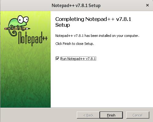 Run Notepad++