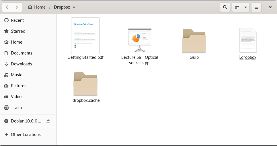 Dropbox file storage