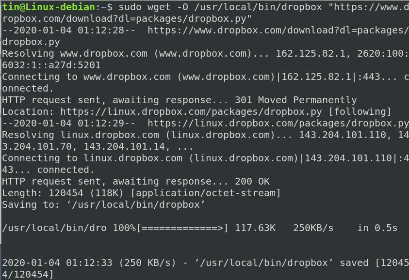 Download Dropbox cli