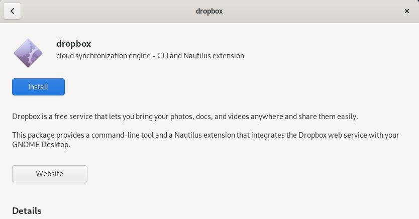 Install Dropbox