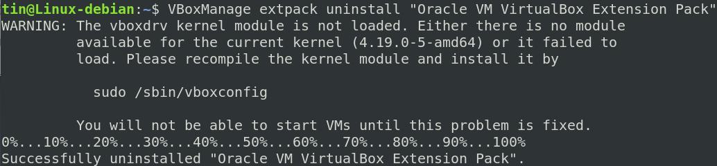 VBox Manage command