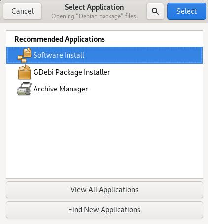 Choose Software Install