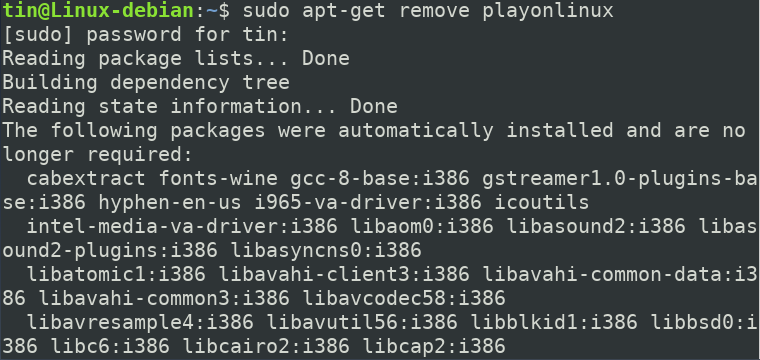 Remive PlayOnLinux