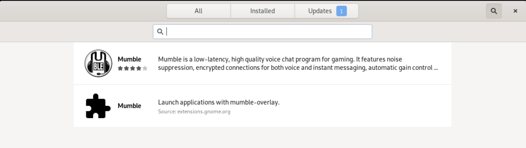 Mumble Voice Chat program