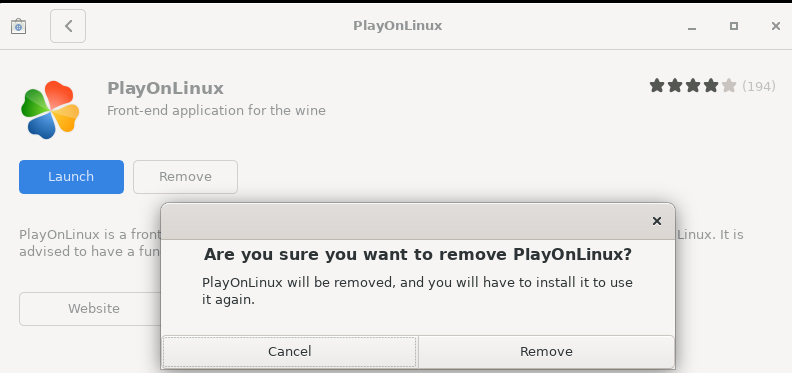 Remove PlayOnLinux