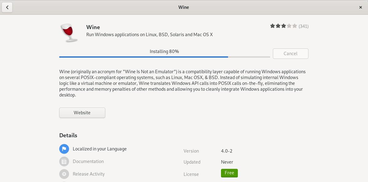 Installing Wine on Debian