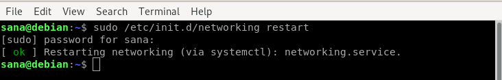 Flush DNS cache by restart networking service