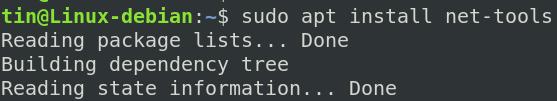 Install net tools