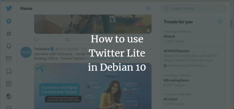 Debian Twitter Lite
