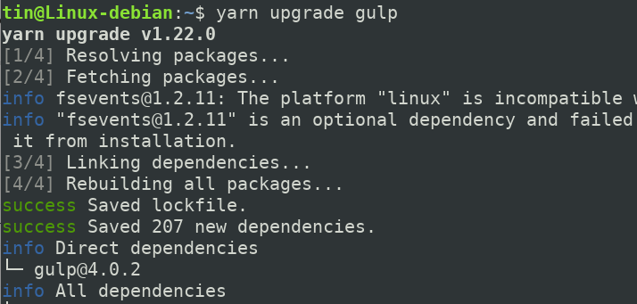 Upgrading a Dependency
