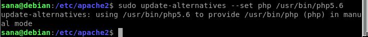 Set Default PHP version
