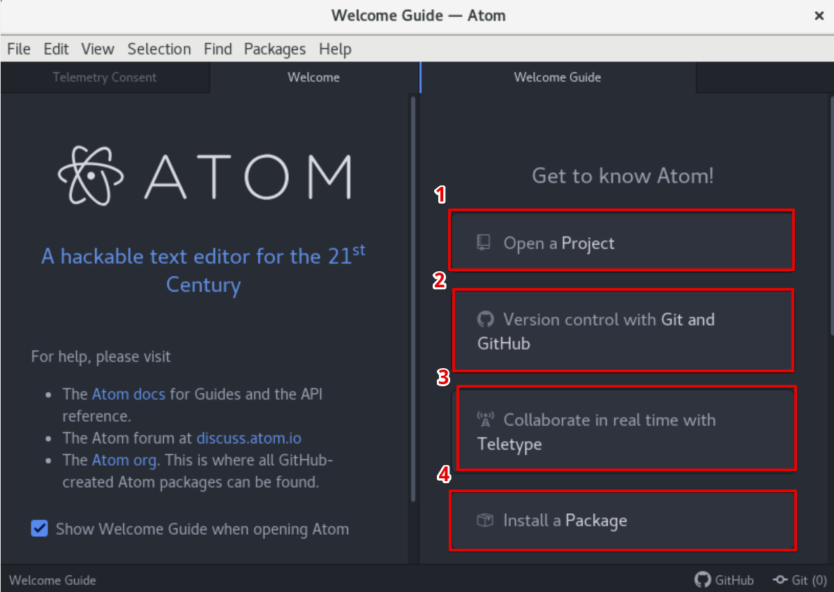 Atom editor launched
