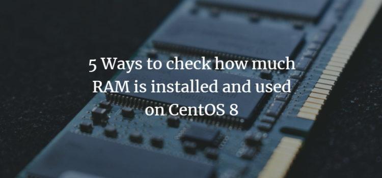 CentOS memory info