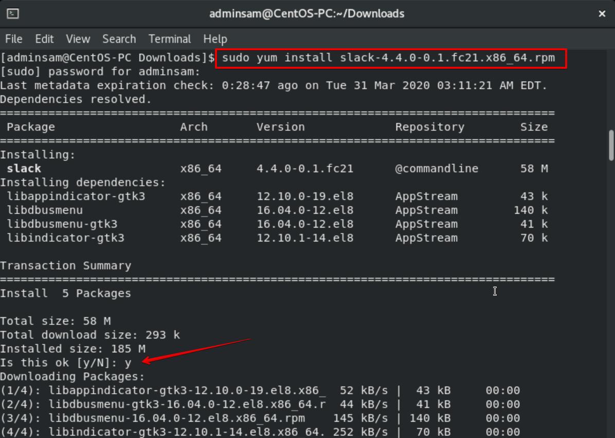 Installing Slack for Linux