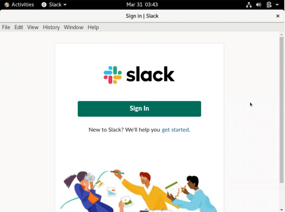Slack for CentOS 8