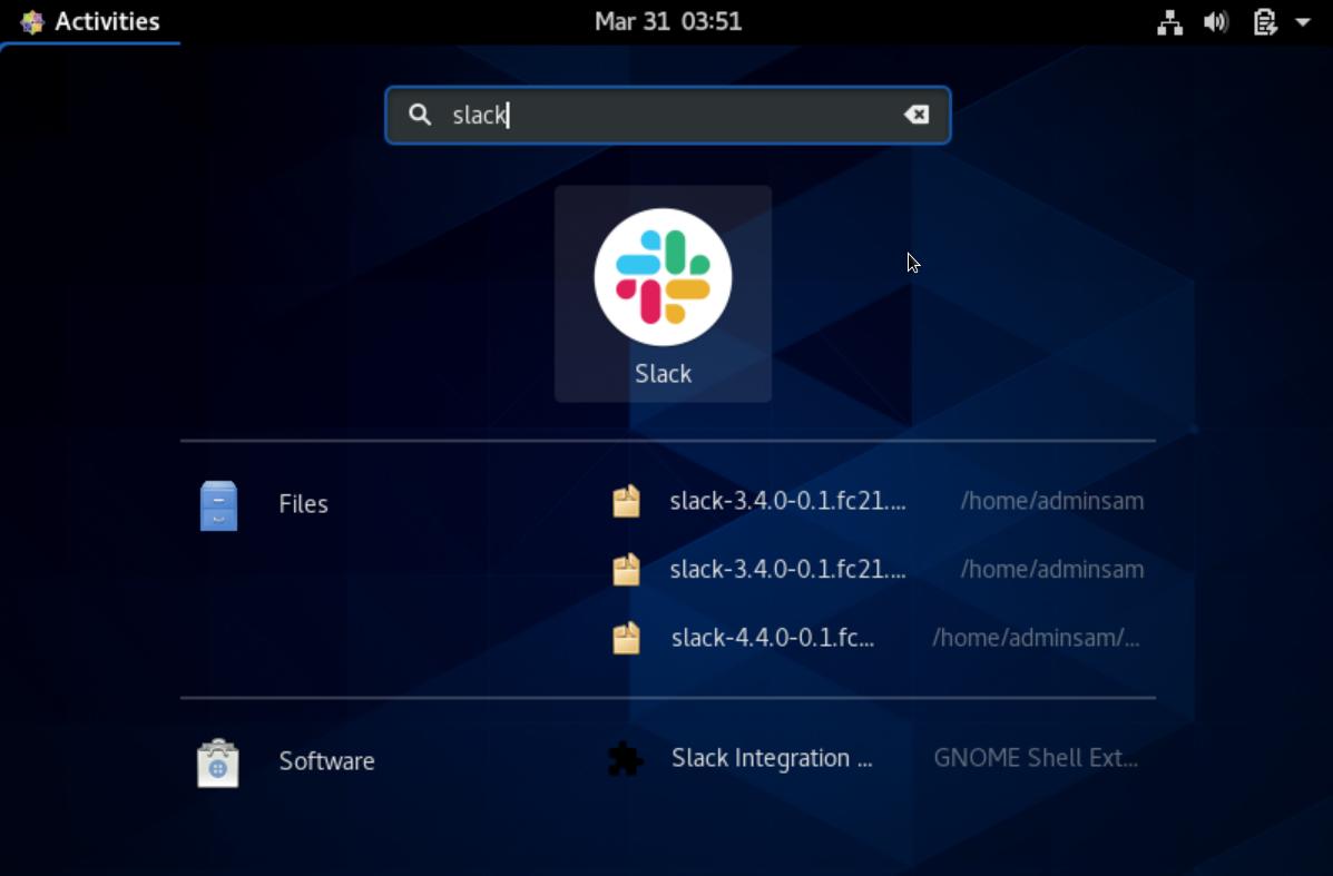 Slack Icon on Desktop