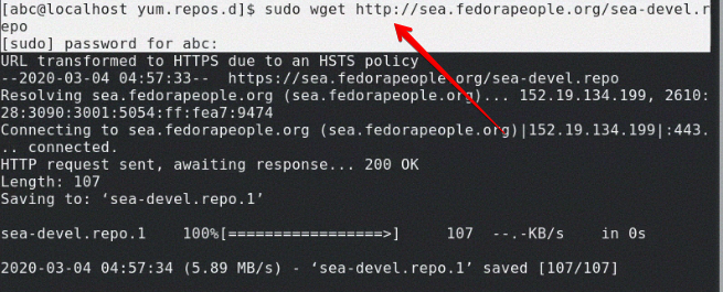 Add sea devel repository