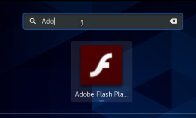 Flash Player Icon on CentOS Desktop