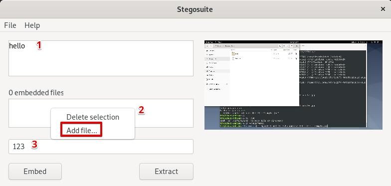 Using Stegosuite