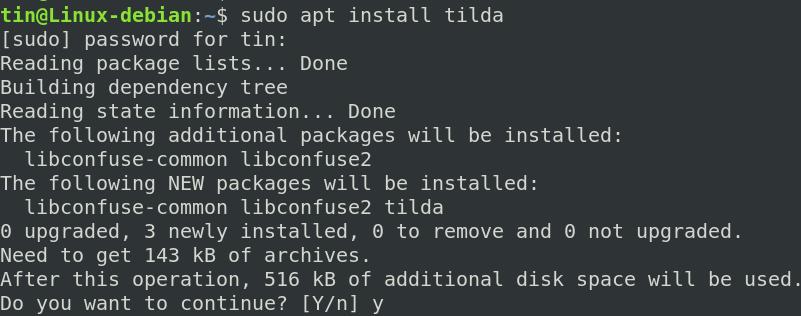 Install Tilda