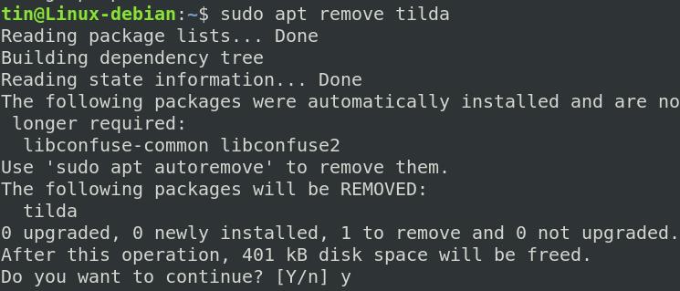 Remove Tilda