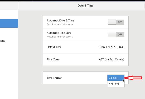 Set time format
