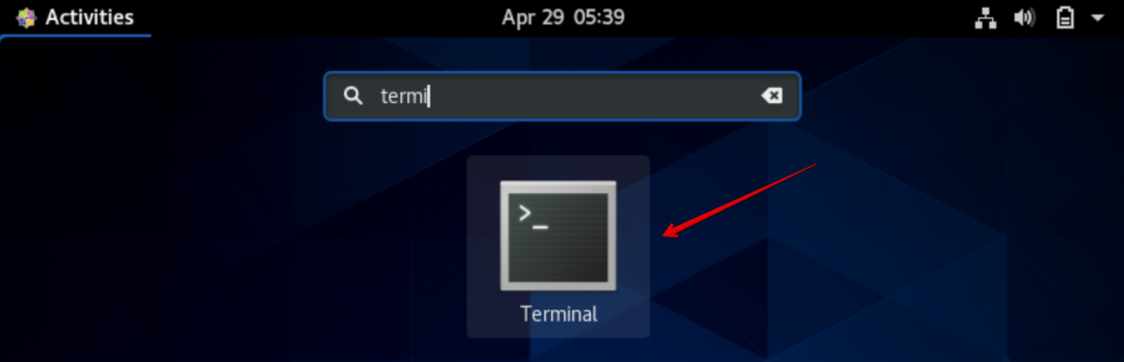 Open Linux Terminal