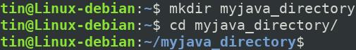 Create java Home directory