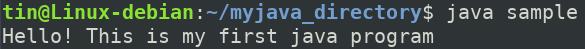 Run your first Java program