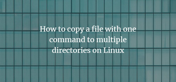 Linux File Copy to multiple locations
