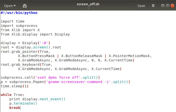 Script screenshot
