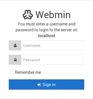 Webmin Login
