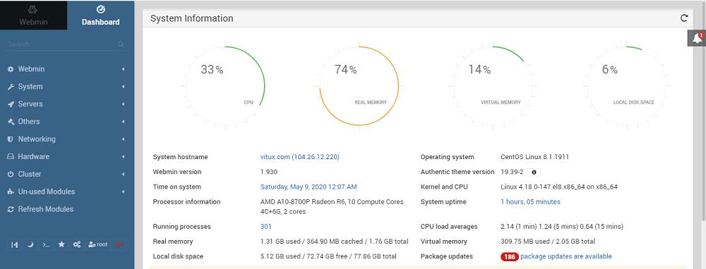 Webmin on CentOS 8