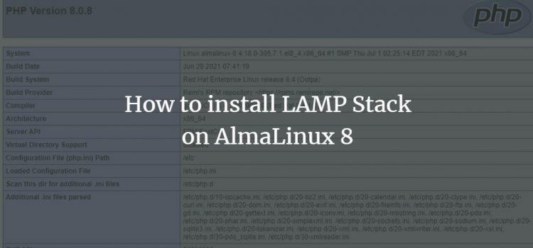 Linux Apache MySQL PHP on AlmaLinux