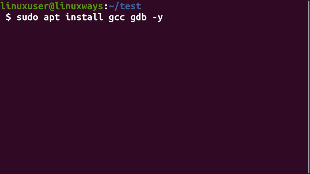 Install GDB Debugger