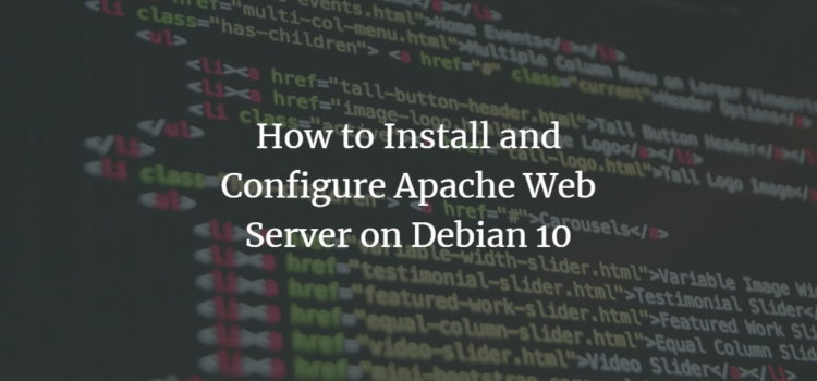 Debian Apache Server Installation