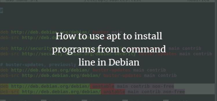 Debian Apt Command