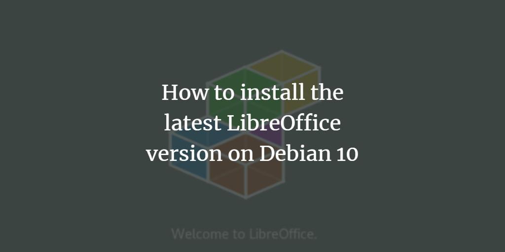 Debian install libreoffice 7