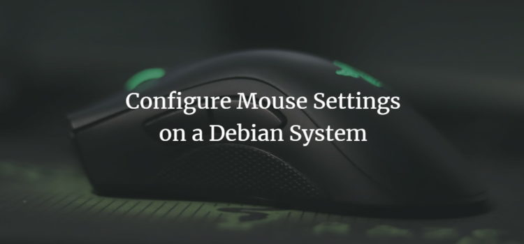 Configure Mouse Settings on a Debian System
